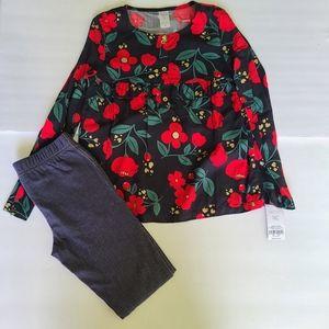 CARTER'S  2 pieces girl top and denim leggings